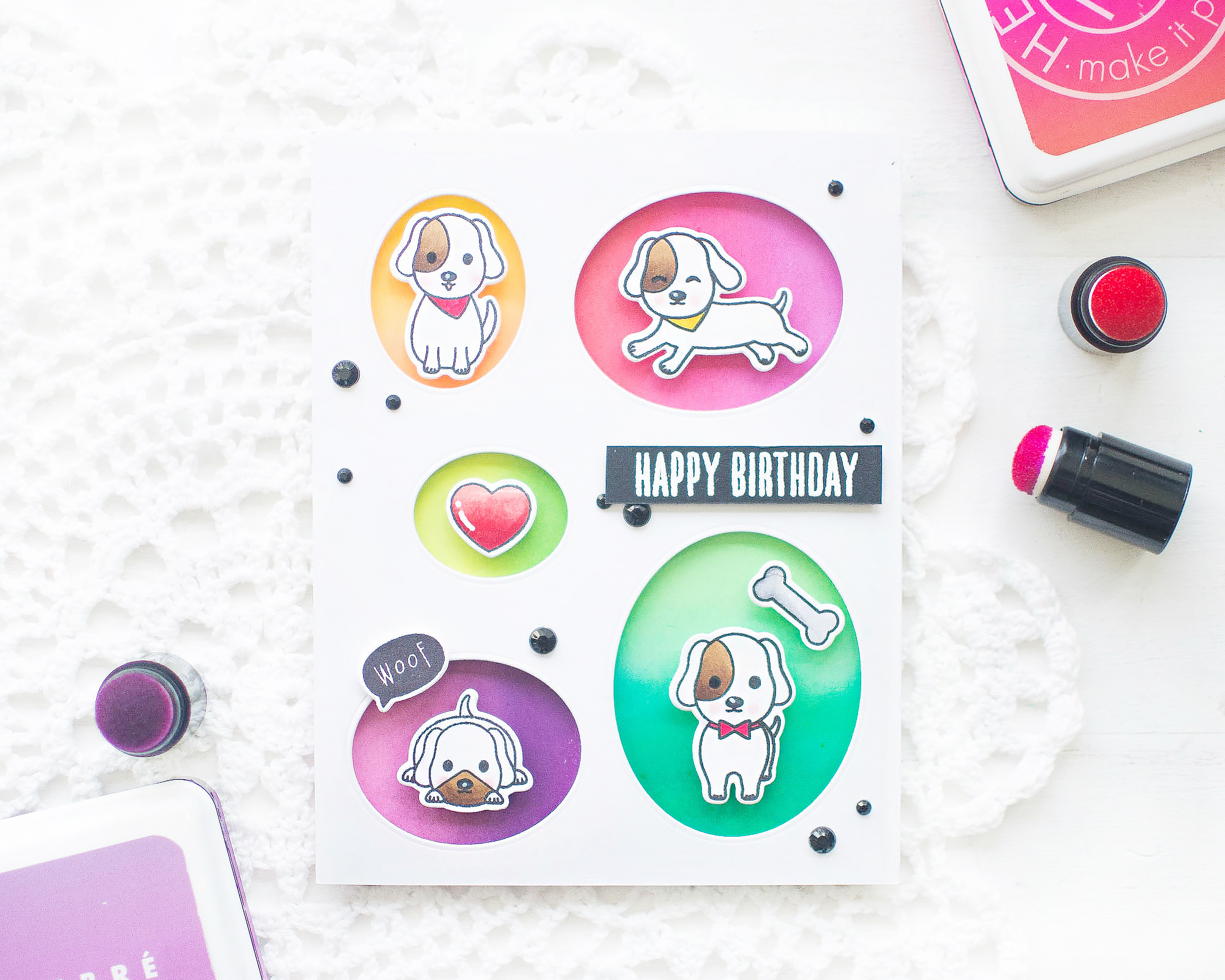 Hero Arts Dog Themed Birthday Card
